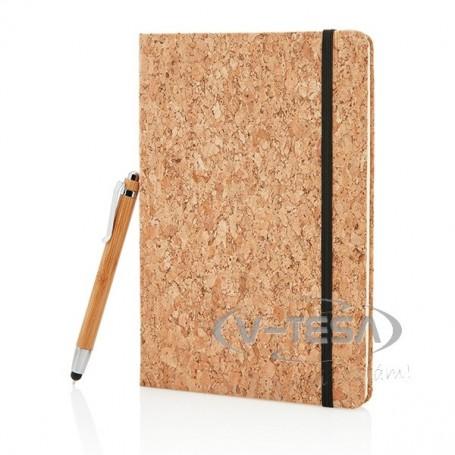 Parafa A5-ös jegyzetfüzet bambusz érintőtollal