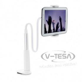 Hajlítható mobiltelefon- és tablettartó, fehér