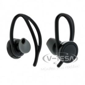 Vezeték nélküli sport fülhallgató, fekete