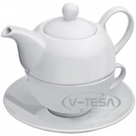 Teáskanna csészével