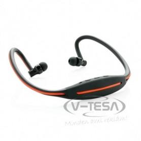 LED-es fejhallgató futáshoz, fekete