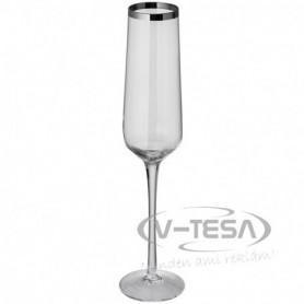 6 db pezsgős pohár