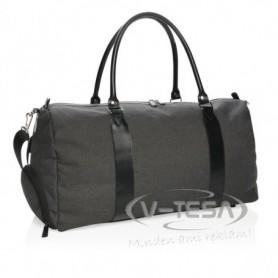 Utazós táska USB kimenettel, fekete