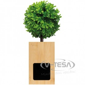 Asztali óra zöld lombos fával