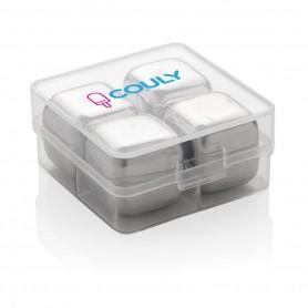 Többször használatos jégkocka rozsdamentes acélból (4 db)
